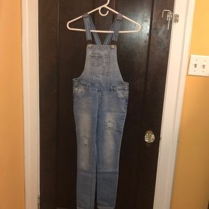 Girls Denim Overalls